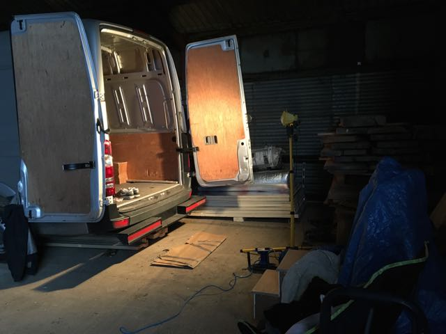 Building the camper van: The first week - THIS MOVING HOUSE