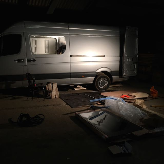 Sprinter Window Install