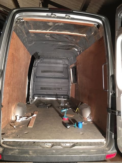 Insulating And Ply Lining A Mercedes Camper Van Conversion