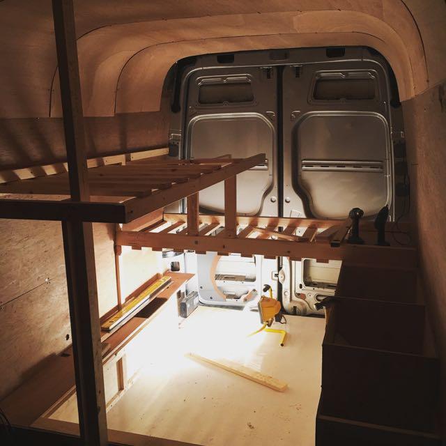 Sprinter Van Bunk Beds >> Bed Framework - THIS MOVING HOUSE