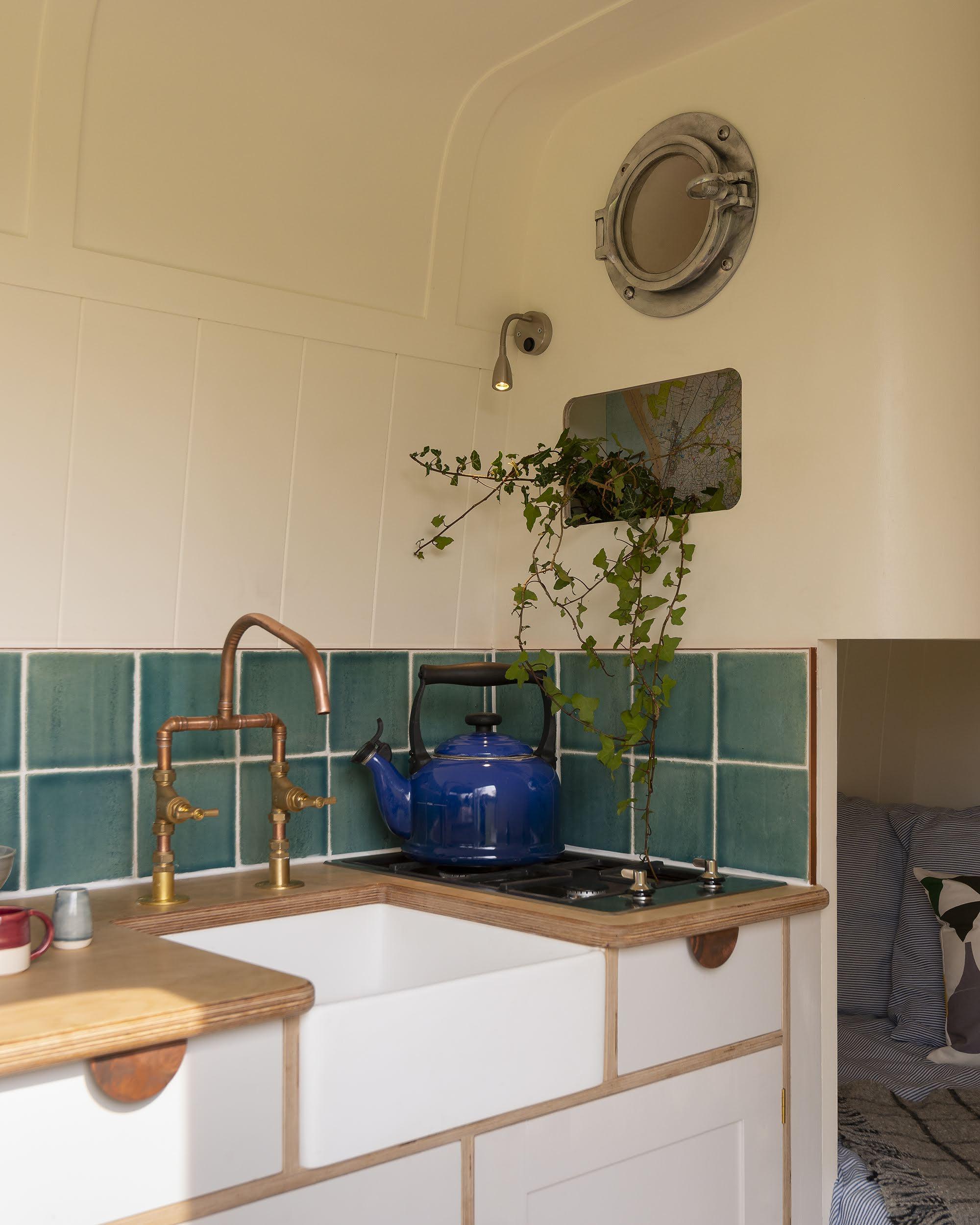 camper van belfast style sink