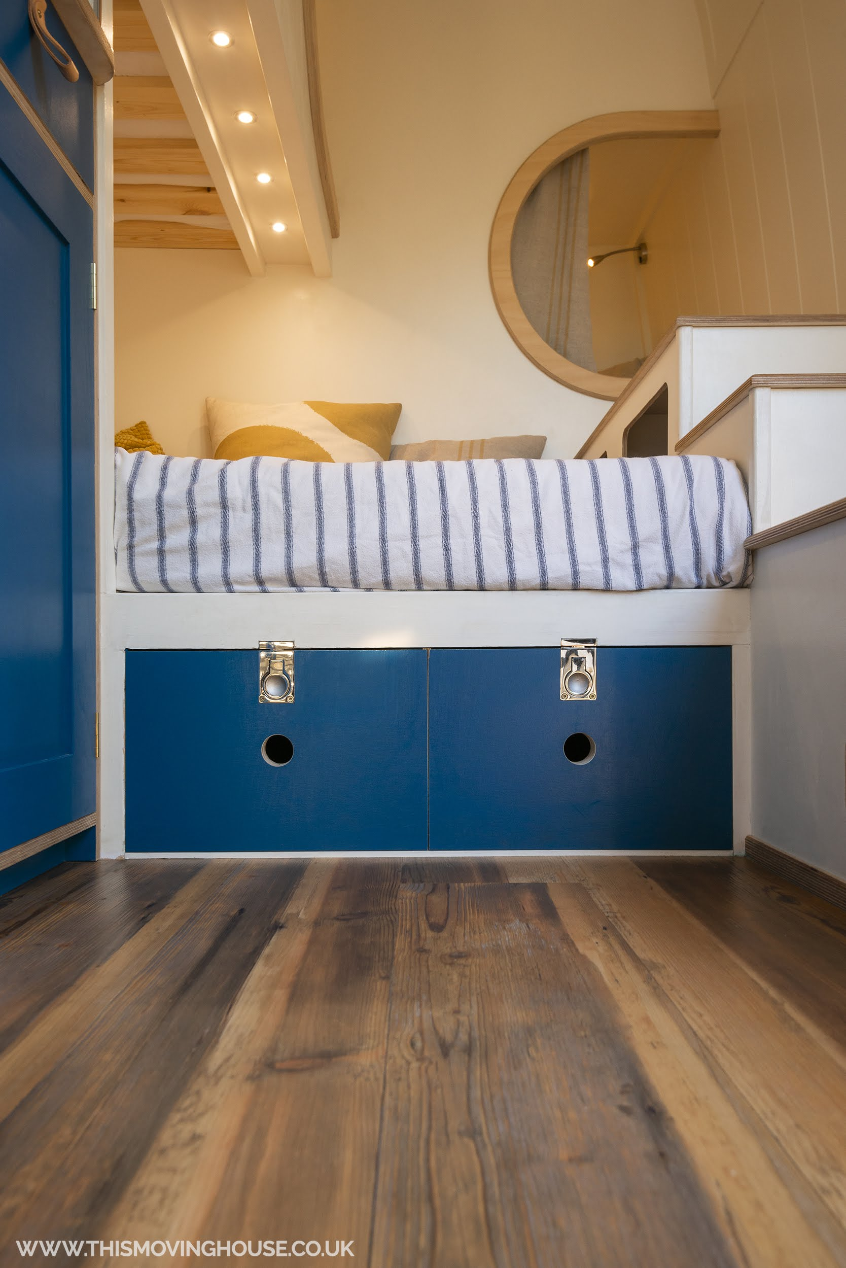 storage solutions in a cool family camper van
