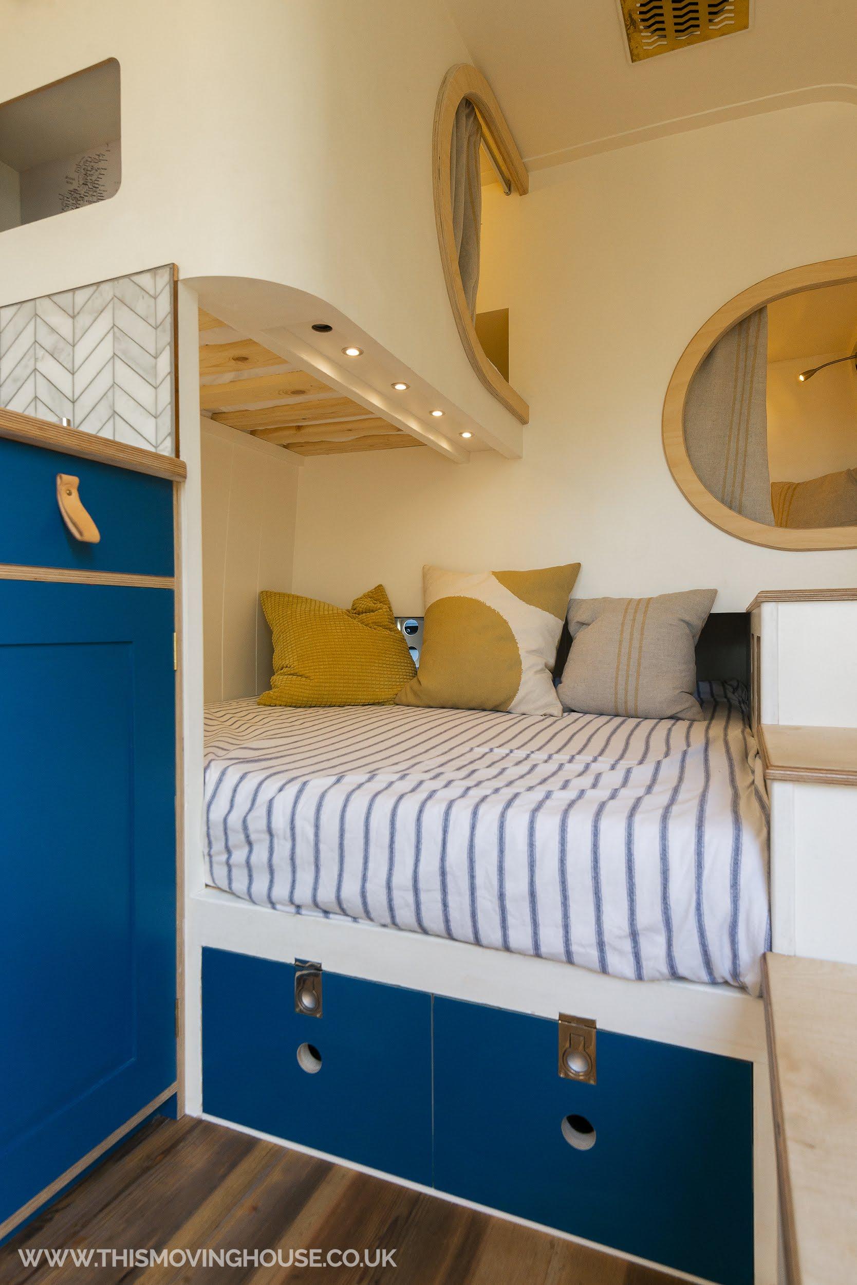 camper van with 12v down lighting